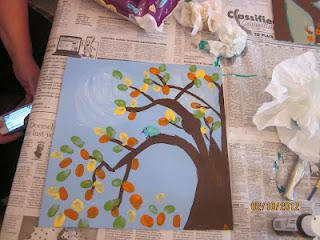 Mommy & Me Art - Thumb Print Trees Part 2!