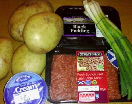 Black Pudding Cottage Pie with Creamy Spring Onion Mash