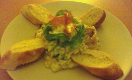 Risotto with Prosciutto, Rocket & Cream Cheese