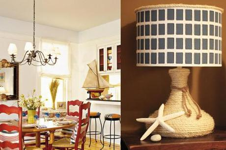 Finished Sisal Rope Lamp