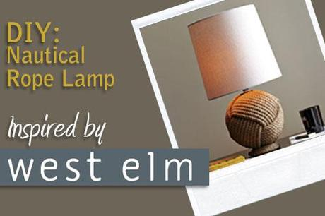 Nautical Rope Lamp Inspired By West Elm
