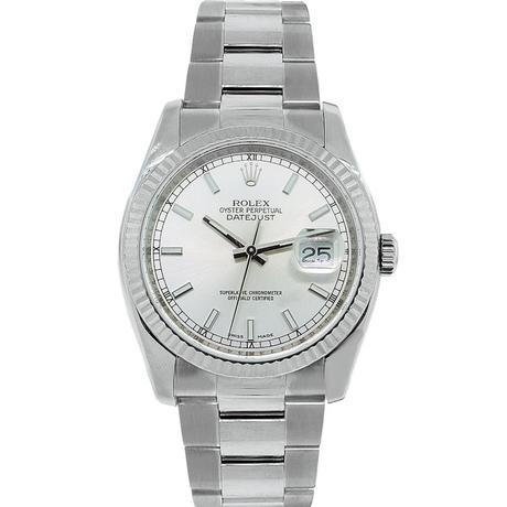 Rolex Datejust 116234 Stainless Steel Silver Stick Dial