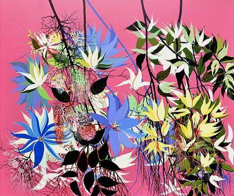 Contemporary Indian Artist Kishore Kumar's Flower Paintings
