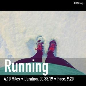 monday run in snow