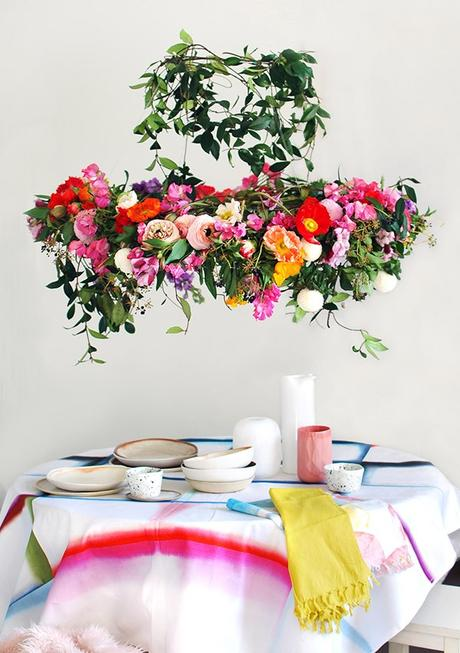 You Should Totally DIY This Floral Chandelier For Your Wedding!