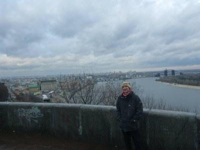 Viewpoint by day in Kiev