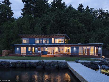 Renovated and expanded modern Seattle home.
