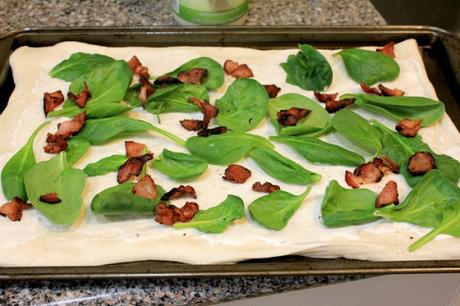 Spinach Bacon Ranch Pizza