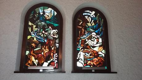 Beautiful Stain Glass windows ....La Clusaz , France.