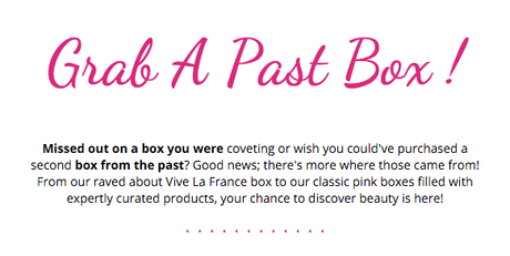 GLOSSYBOX DEAL ON PAST BOXES