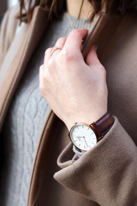 Hello Freckles All Saints Coat Winter Outfit Daniel Wellington