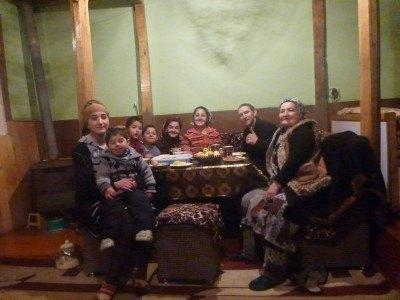 My hosts here at Pamir Lodge in Khorog!