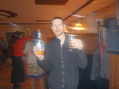 A beer in the best nightclub in Khorog