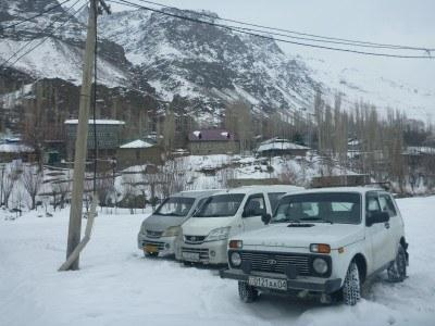 Hat-trick of cars by the Afghanistan to Tajikistan border