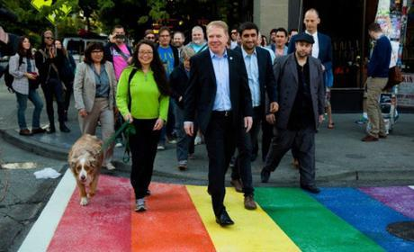 Ed Murray and his rainbow sidewalks to prevent crimes.