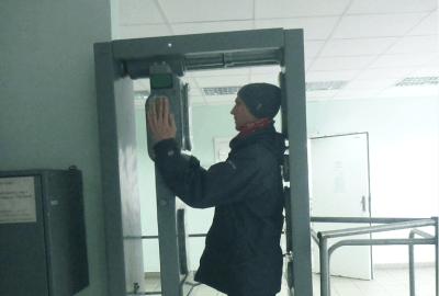 Jonny Blair radiation scan on tour of Chernobyl Ukraine