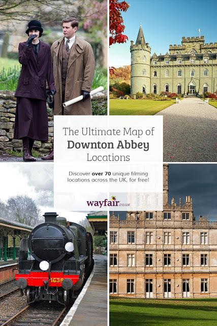 PERIOD & MORE PERIOD - THE ULTIMATE MAP OF DOWNTON ABBEY LOCATIONS