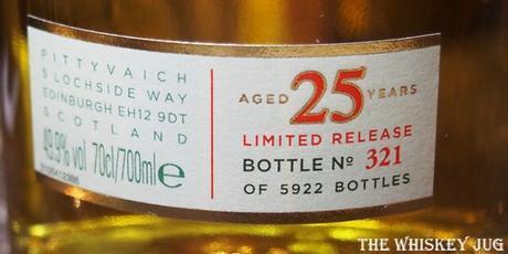 Pittyvaich 25 Years Label