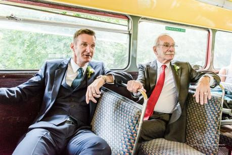 Groom and father on the bus
