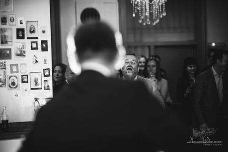 Wedding guest singing to the music