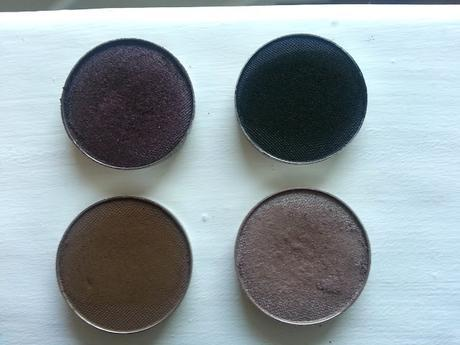 Makeupgeek EyeShadows And Swatches