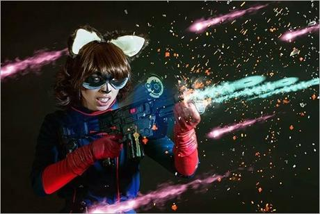 Vanessa Wedge as Rocket Raccoon Marvel vs Capcom 3 version (Photo by Adam Woz)