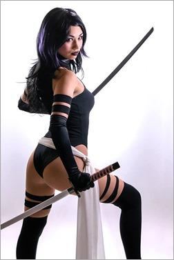Vanessa Wedge as Psylocke X-Force Shunya Yamashita Kotobukiya version (Photo by Adam Woz)