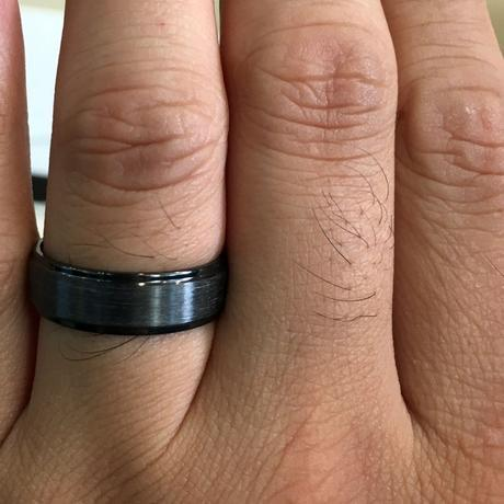 Black men's wedding ring