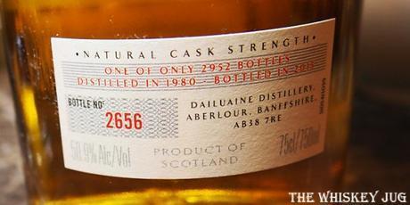 Dailuaine 34 Years Label