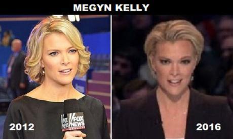 Megyn Kelly in 2012 vs. 2016