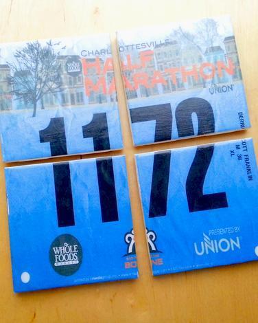 2015 Gift Guide - Race Bib Coasters