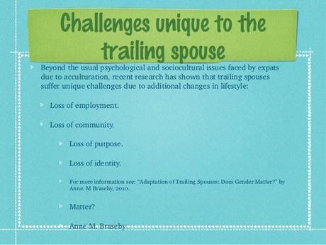 Surviving the trailing spouse tag