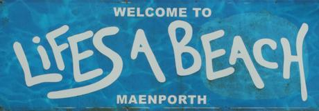 Maernporth cafe sign