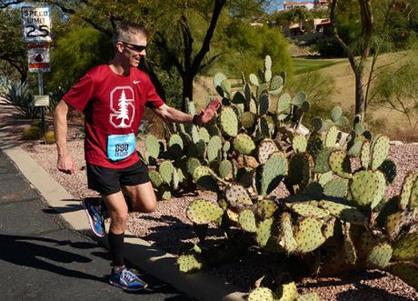 Mike Sohaskey high-fiving a Tuscon cactus?