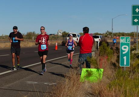 Mike Sohaskey at Mile 19 (91) of Tuscon Marathon 2015