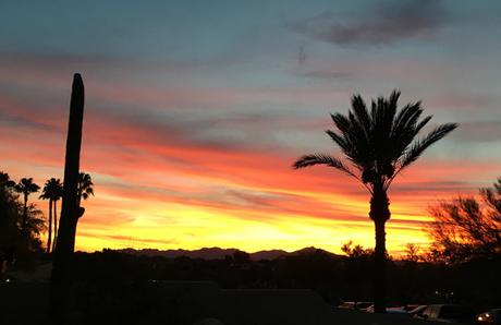 Sunset on grounds of Hilton Tuscon El Conquistador resort