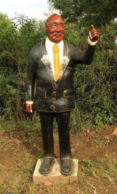 Effigy of Museveni Uganda elections 2016 #UgandaDecides