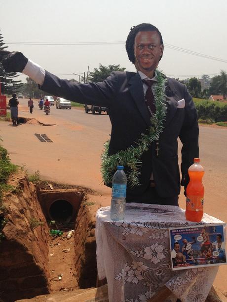 Effigy of Dr Kizza Besigye. Uganda elections 2016 #UgandaDecides