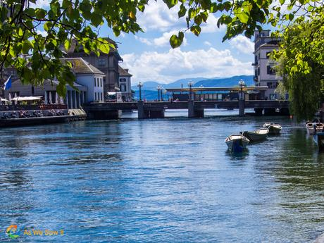 Zurich river view