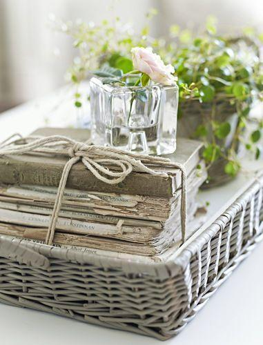TIDBITS TWINE Coffee Table Basket Decorating with Baskets {18 Everyday Ideas}: