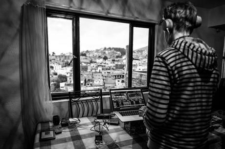 The DJ takes in the view, tries to remember where he is! Image by Charlene Winfred.