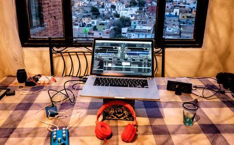 DJ Flemming Bo and his on the road setup! Bringing down the house! Guanajuato, Mexico in the background.