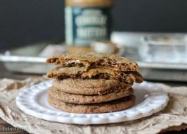 Cookie Butter Stuffed Soft Ginger Cookies