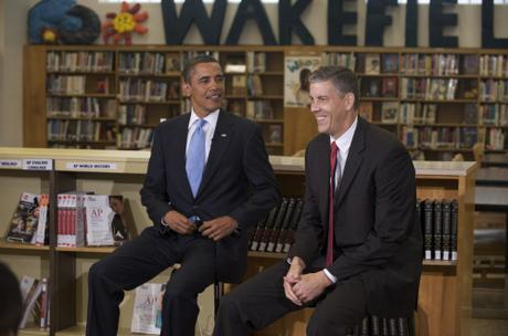 Obama and Duncan/ed.gov Photo