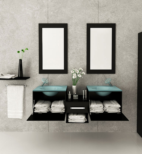 space-saving bathroom designs are trends this year
