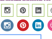 Horizontal Social Sharing Widget With Hover Effect Blogger