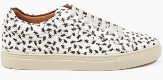 The Print That Crawls: Paul Smith White Printed Leather Sneakers