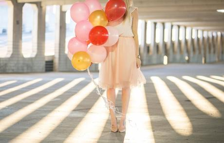 Valentine's Day Photoshoot with balloons.
