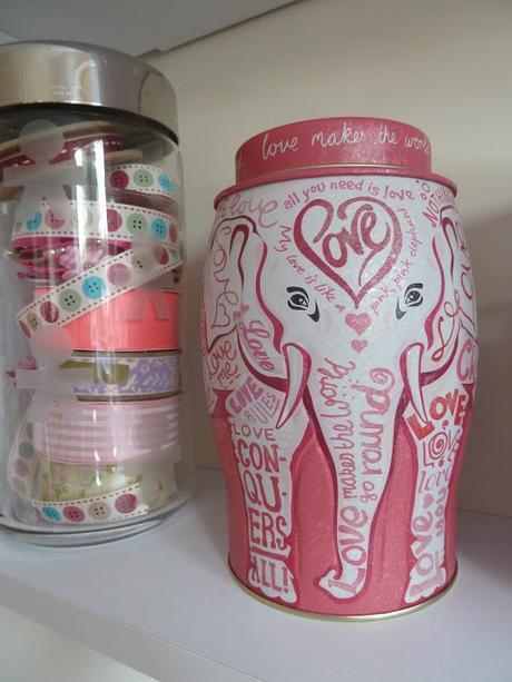 Decorative Tea Caddie Tin Elephant