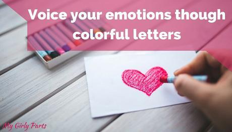 Voice your emotions though colorful letters